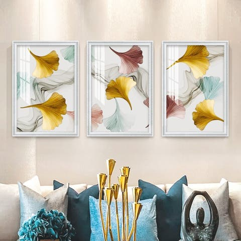 Colorful Autumn-3 Piece Picture Print Set On Canvas, Pictures Only