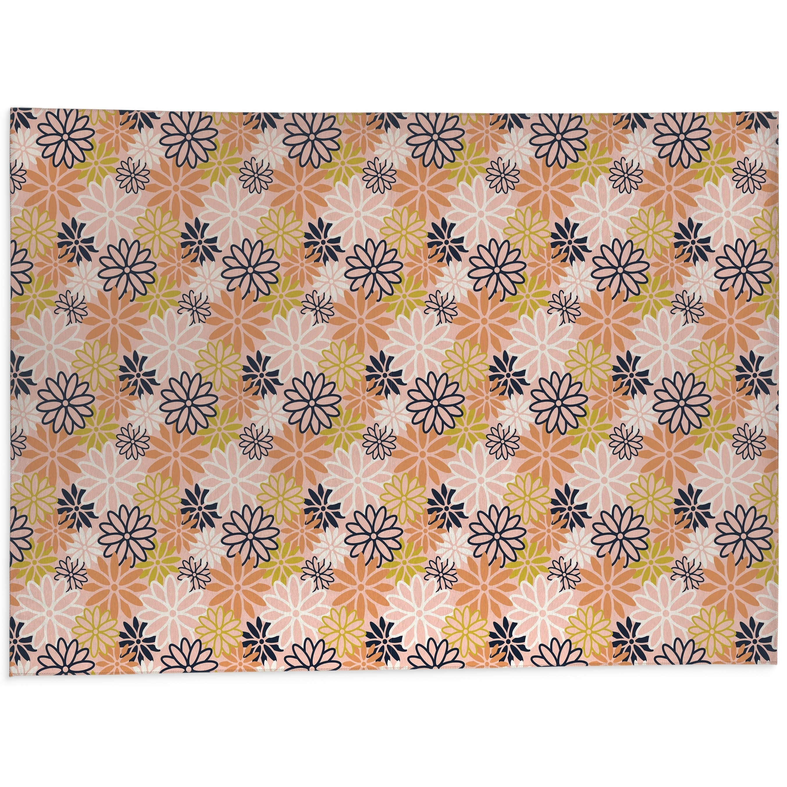 Shop Beatnik Floral Peach Kitchen Mat By Kavka Designs Overstock 30585542