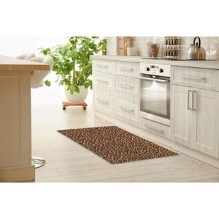 LEOPARD PRINT NATURAL Kitchen Mat By Kavka Designs