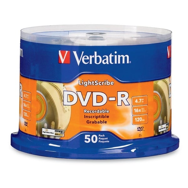 Verbatim LightScribe 16x DVD-R Media