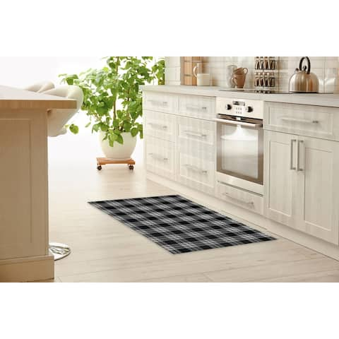 PLAID Kitchen Mat By Terri Ellis