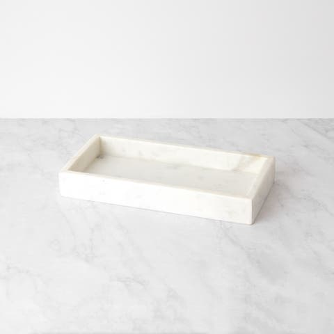 Aurora Home Marble Rectangle Tray