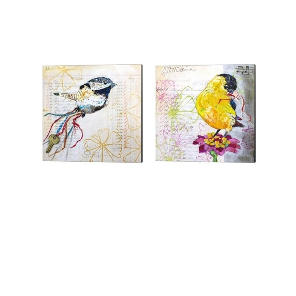 Elizabeth St. Hilaire 'Happy Bird' Canvas Art (Set of 2)