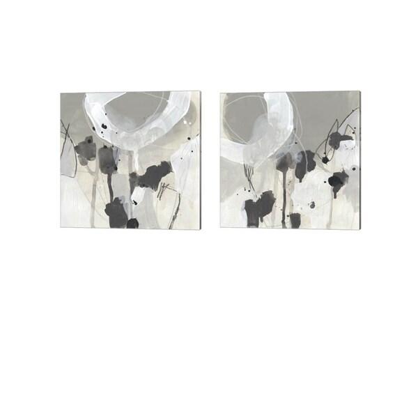 June Erica Vess 'Neutral Circuit' Canvas Art (Set of 2)