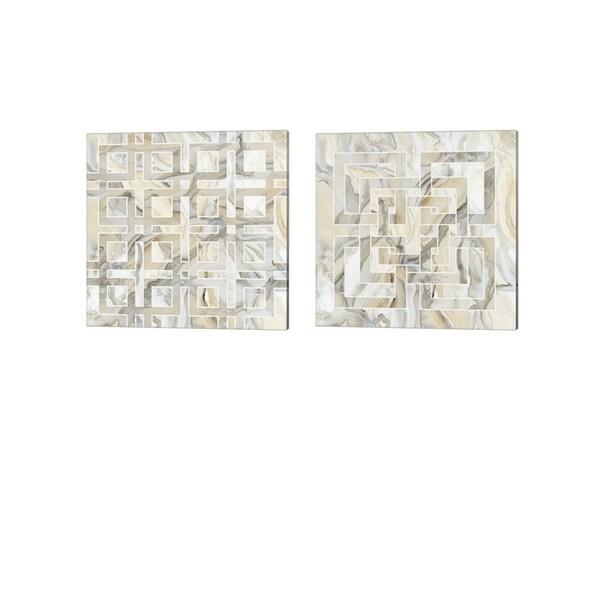 Debbie Banks 'Onyx' Canvas Art (Set of 2)