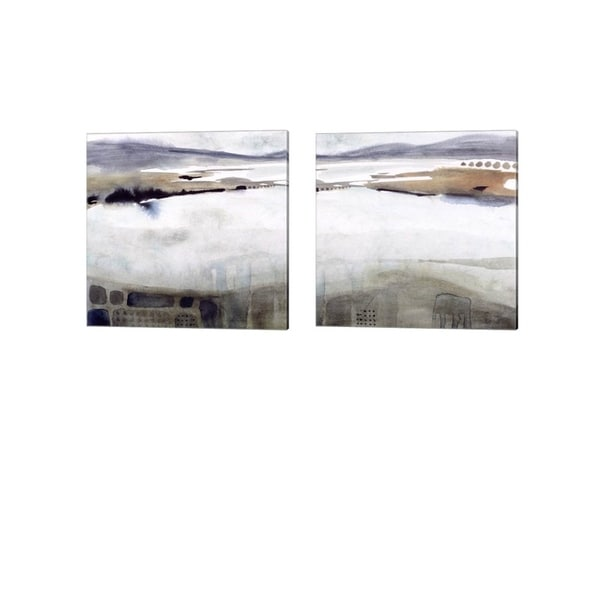 Victoria Borges 'Watercolor Moor' Canvas Art (Set of 2)