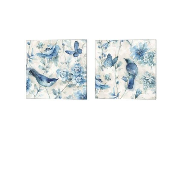 Lisa Audit 'Indigold v2' Canvas Art (Set of 2)