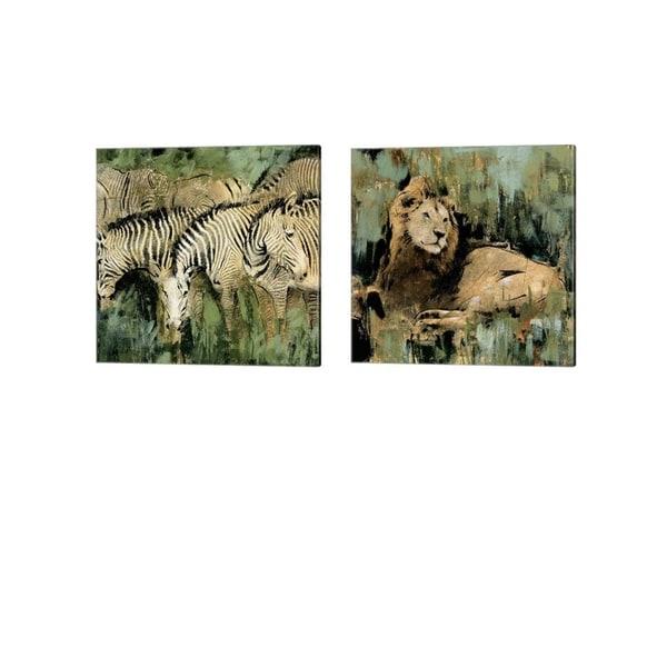 Liz Jardine 'Heart of the Jungle' Canvas Art (Set of 2)
