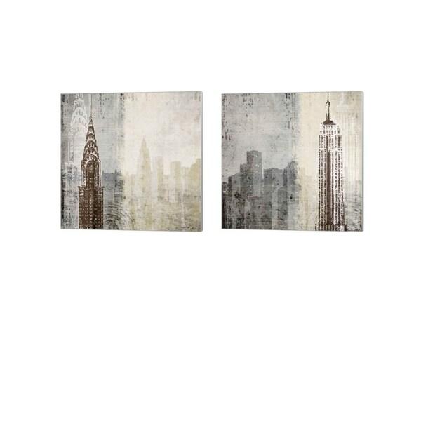 Tandi Venter 'Edifice' Canvas Art (Set of 2)