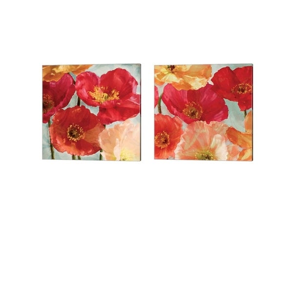 Janel Pahl 'Incandescence' Canvas Art (Set of 2)