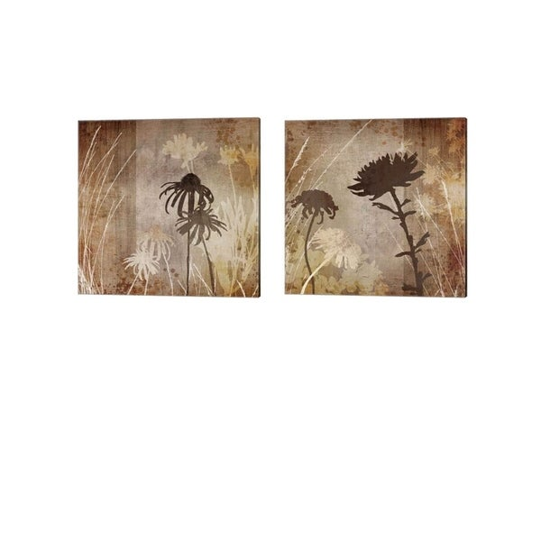 Tandi Venter 'Floral' Canvas Art (Set of 2)