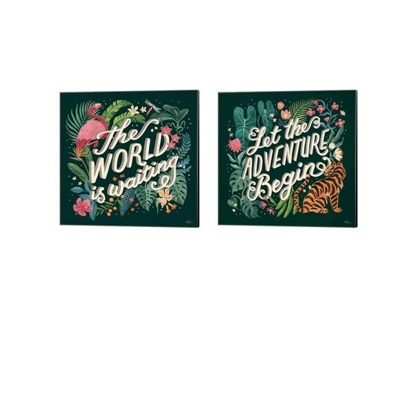 Janelle Penner 'Jungle Love' Canvas Art (Set of 2)