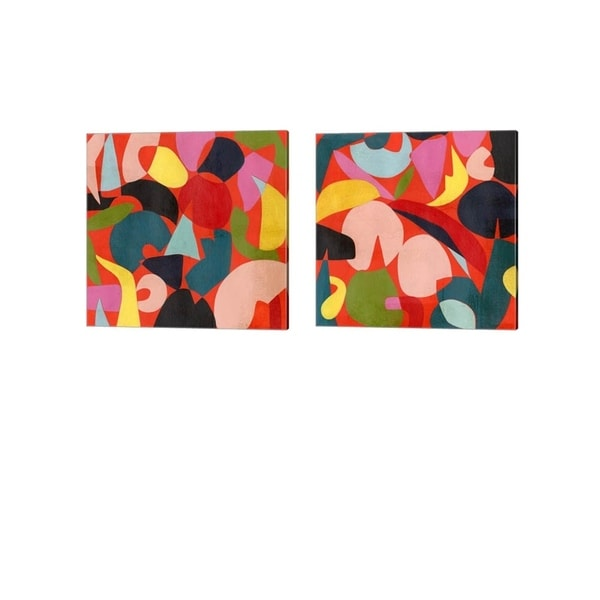 Grace Popp 'Tomato Prism' Canvas Art (Set of 2)