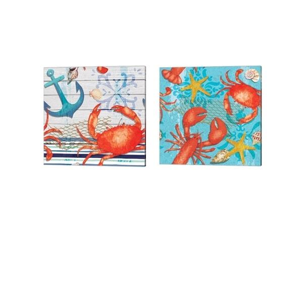 ND Art & Design 'New England Pattern' Canvas Art (Set of 2)