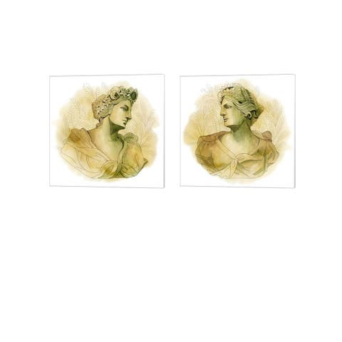 Grace Popp 'Garden Goddess' Canvas Art (Set of 2)