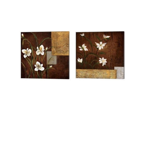 Teo Vineli 'Orchid Melody' Canvas Art (Set of 2)