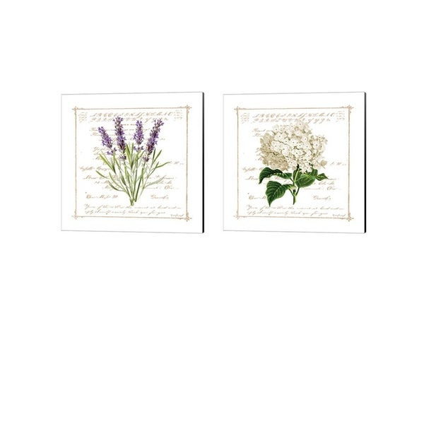 Jennifer Pugh 'Floral' Canvas Art (Set of 2)