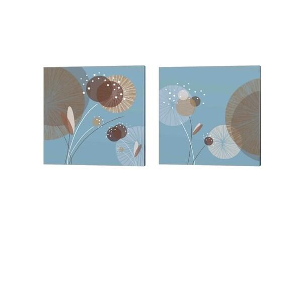 Christina Mitchell 'Blue Breeze' Canvas Art (Set of 2)