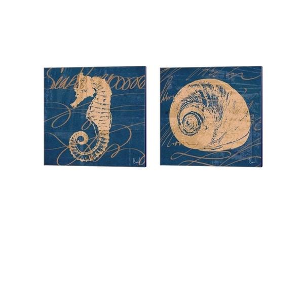 Jason Basil 'By the Seashore' Canvas Art (Set of 2)