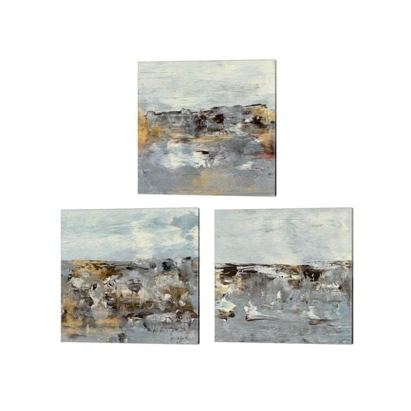 Lila Bramma 'Discovery' Canvas Art (Set of 3)