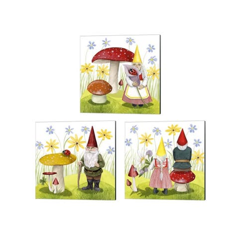 Grace Popp 'Gnome Neighbors' Canvas Art (Set of 3)