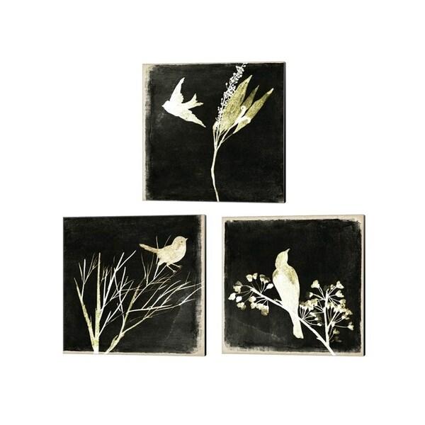 Melissa Wang 'Black Night' Canvas Art (Set of 3)
