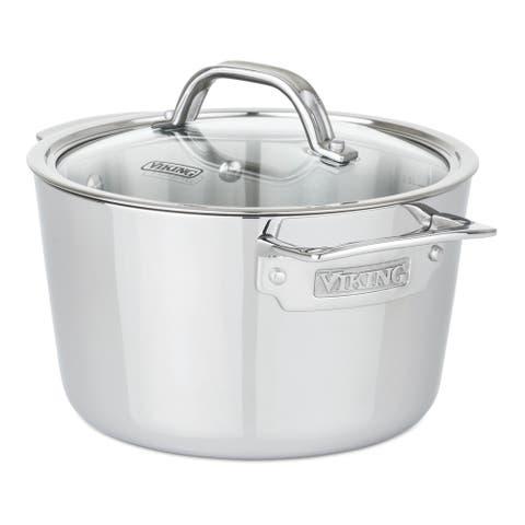 Viking Contemporary 3-Ply 3.4 Qt Soup Pot, Mirror Finish