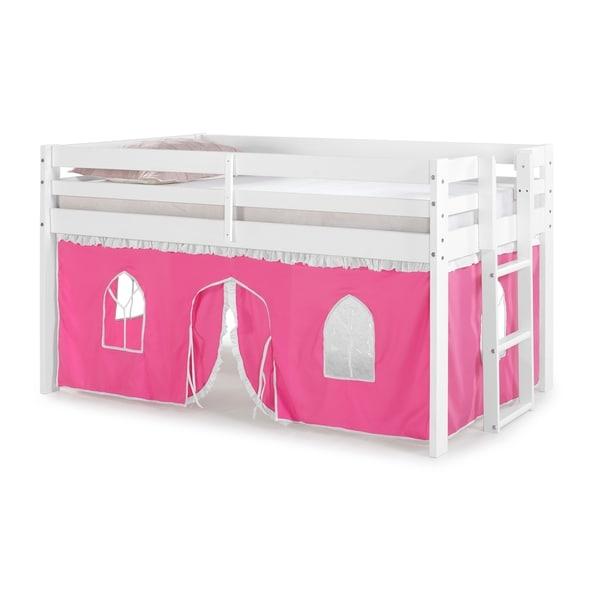 Jasper Twin Junior Loft Bed with Underbed Tent