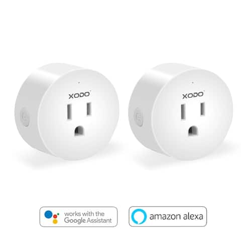 XODO WP1 WiFi Enabled, App Controlled, Mini Smart Plug, Light Notification Outlet, Compatible with Alexa and Google Home