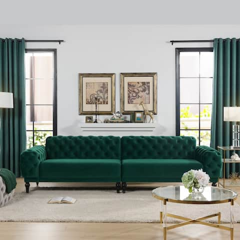 Copper Grove Williams 4-seater Tufted Velvet Sofa