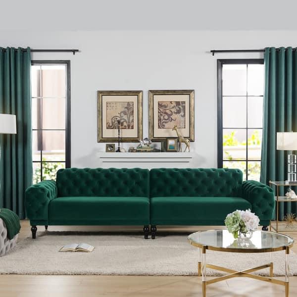 Shop Tappman Modular 4-Seater Tufted Velvet Sofa by Jennifer ...