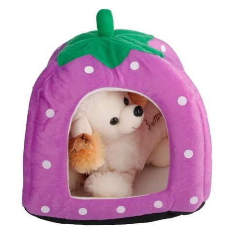 Sofa Strawberry Pets Dog Cat House purple-L