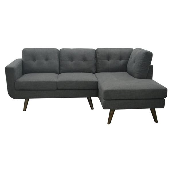 Shop Mid Century Drake Upholstery Fabric Sectional In Charcoal Gray On Sale Overstock 30590762,How To Make A Candle Wick Stay