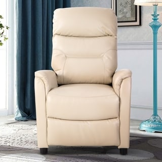 Single Push Back Recliner Chair/Living Room Sofa/Home Theater Modern Recliner