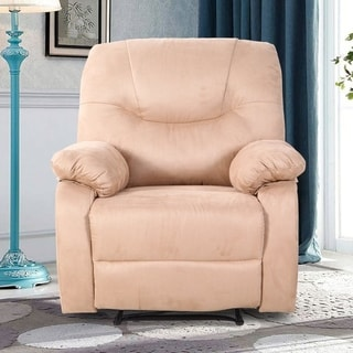 Single Recliner Armchair Ergonomic Reclining Sofa Chair Home Accent Chair, Elegant and Comfortable, Microfibre