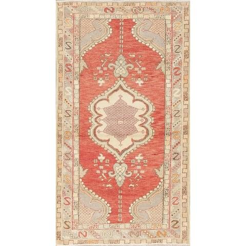 "Anatolian Turkish Geometric Traditional Area Rug Oriental Handmade - 3'5"" x 6'2"""