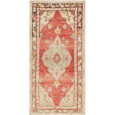 "Oriental Geometric Anatolian Turkish Area Rug Handmade Carpet Foyer - 3'0"" x 5'7"""