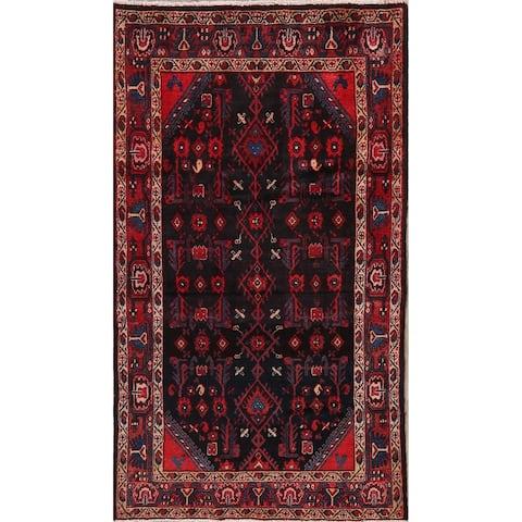"Tribal Malayer Persian Navy & Red Area Rug Oriental Handmade Geometric - 4'2"" x 7'2"""