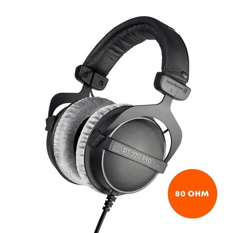Beyerdynamic DT 770 PRO 80 Ohm Over-Ear Studio Headphones, Black