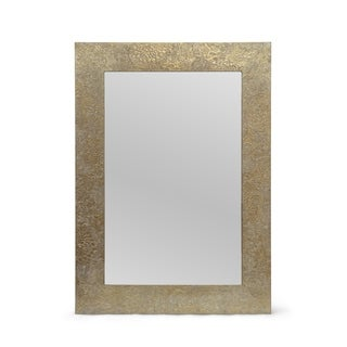 """Charmaine Aluminum Fitted Mirror by Christopher Knight Home - 0.60"""" D x 19.50"""" W x 27.50"""" H"""