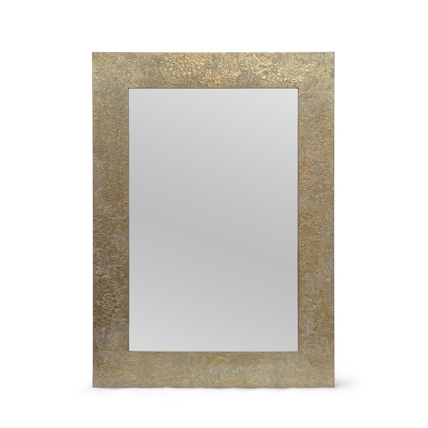 """Charmaine Aluminum Fitted Mirror by Christopher Knight Home - 0.60"""" D x 19.50"""" W x 27.50"""" H. Opens flyout."""