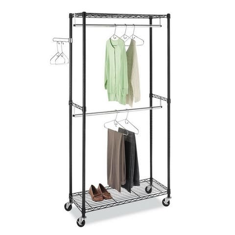 Closet Organizer Garment Rack Clothes Hanger Home Shelf
