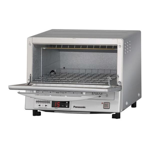 Panasonic FlashXpress Toaster Oven w/ Double Infrared Heating (Silver)