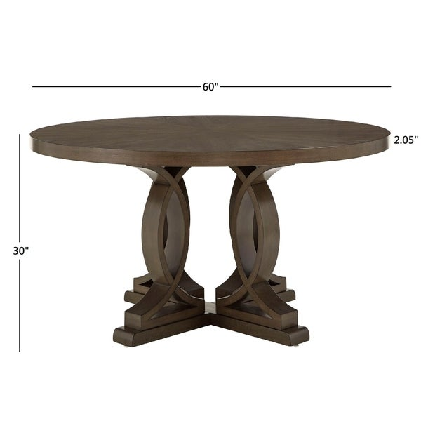 """Sullivan Dark Walnut Finish 60"""" Round Dinning Table by iNSPIRE Q Classic - Table Only"""