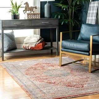 Copper Grove Deltuy Withered Wreath Area Rug
