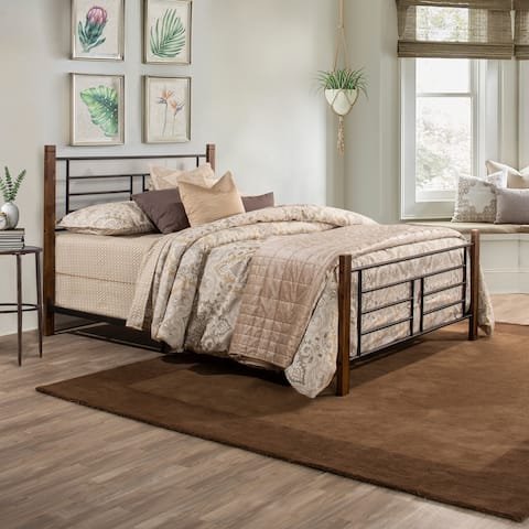 Raymond Complete Bed, Dark Brown