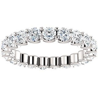 Link to 2 Ct Moissanite Eternity Ring Womens Wedding Band 14k White Gold Similar Items in Rings