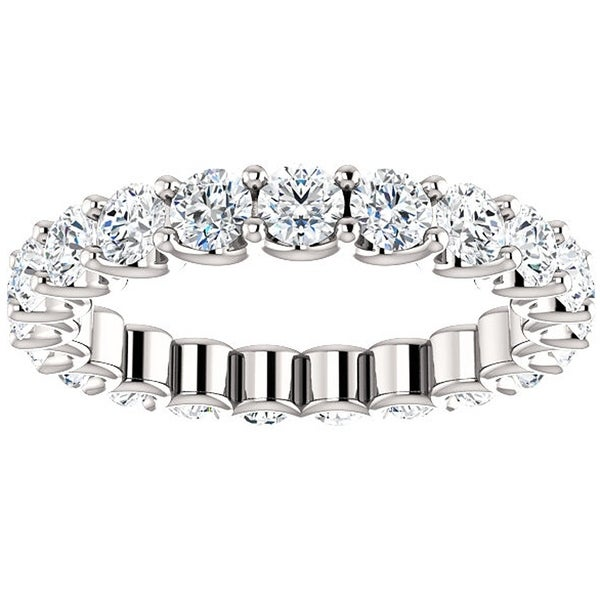2 Ct Moissanite Eternity Ring Womens Wedding Band 14k White Gold. Opens flyout.
