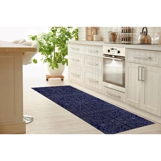 Link to SULTANATE NAVY Kitchen Mat by Kavka Designs Similar Items in Rugs