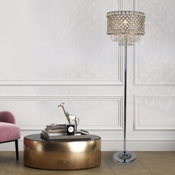 Silver Orchid Daniels 60-inch Polished Chrome Metal Floor Lamp (As Is Item). Opens flyout.